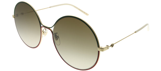 Gucci GG 0395S 003 Round Metal Sunglasses