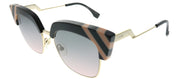 Fendi Waves FF 0241 KB7 Grey Pink Cat-Eye Plastic Sunglasses