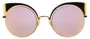 Fendi Eyeshine FF 0177 001 Yellow Gold Cat-Eye Metal Sunglasses