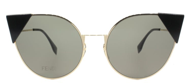 Fendi FF 0190 000 2M Rose Gold Cat-Eye Metal Sunglasses