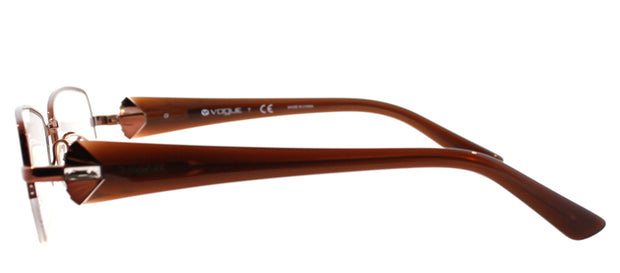 Vogue Eyewear VO 3864B Semi-Rimless Eyeglasses