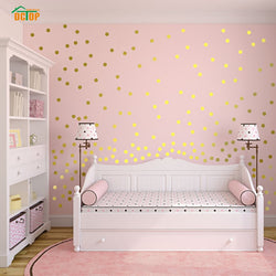 55pcs Rainbow Multi-color Diy Confetti Polka Dots Circles Wall Sticker For Living Room Bedroom Vinly PVC Wall Decals Home Decor