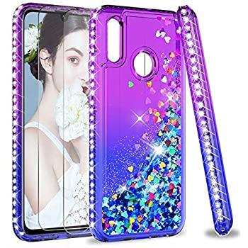 CUSTODIA COVER CASE MORBIDA CON BRILLANTINI GLITTER PER P30 / P SMART 2019