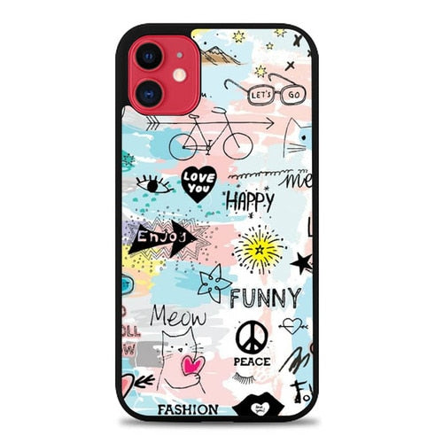 Custodia Cover iphone 11 pro max Happy Live S0394 Case