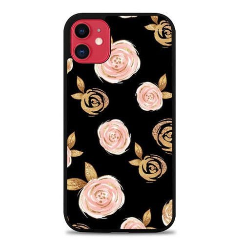 Custodia Cover iphone 11 pro max Flowers in the Dark S0411 Case