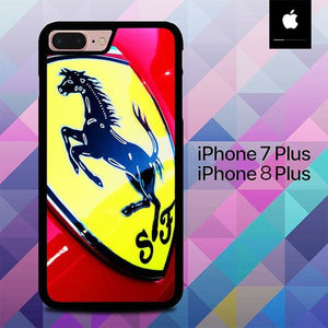 Custodia Cover iphone 7 plus 8 plus Ferrari Car Logo O0612 Case