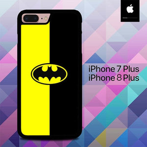 Custodia Cover iphone 7 plus 8 plus Batman Logo Yellow Black O0778 Case