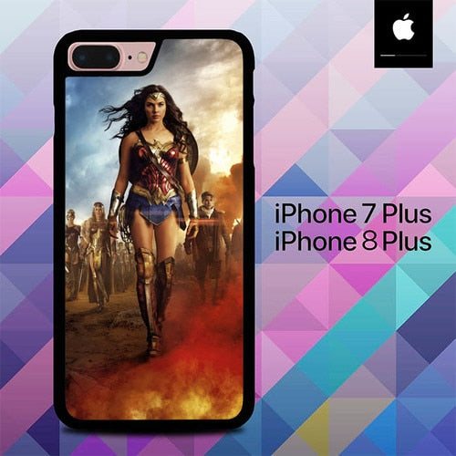 Custodia Cover iphone 7 plus 8 plus Superhero Wonder Woman O0878 Case