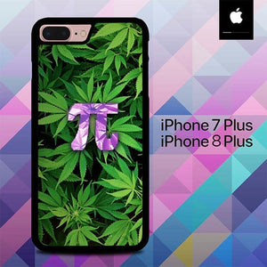 Custodia Cover iphone 7 plus 8 plus Leaf Pattern Pi Days Logo O4021 Case