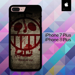 Custodia Cover iphone 7 plus 8 plus Trafalgar Law One Piece O5004 Case