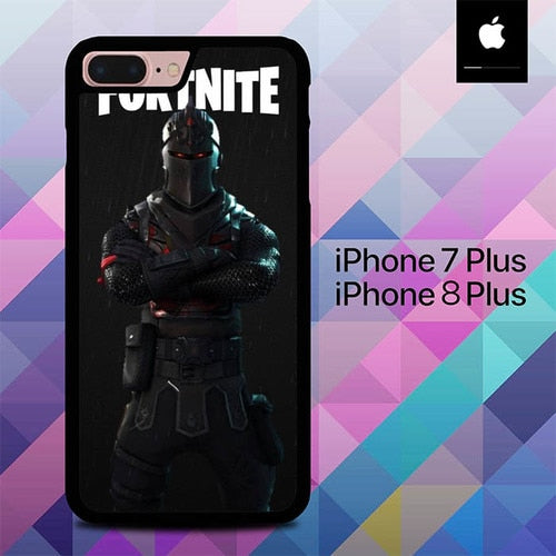Custodia Cover iphone 7 plus 8 plus Black Knight Fortnite O6529 Case