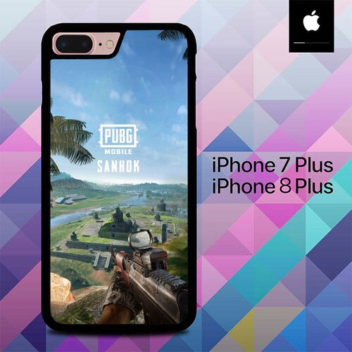 Custodia Cover iphone 7 plus 8 plus PUBG Mobile Sanhok O6532 Case