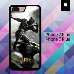 Custodia Cover iphone 7 plus 8 plus Black Panther Wakanda O6662 Case