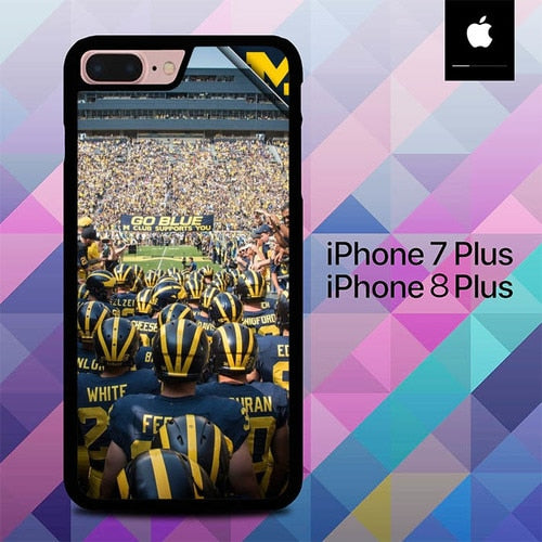 Custodia Cover iphone 7 plus 8 plus Michigan Wolverines O7046 Case