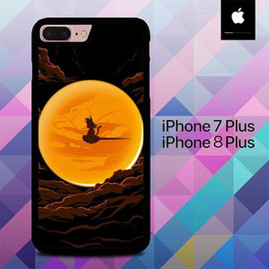Custodia Cover iphone 7 plus 8 plus Dragon Ball Moon O7113 Case