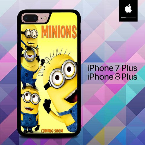 Custodia Cover iphone 7 plus 8 plus new animated movie minions O7418 Case