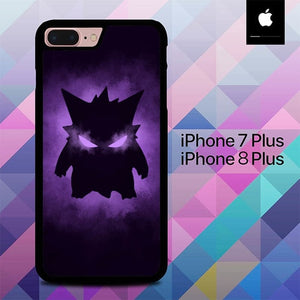 Custodia Cover iphone 7 plus 8 plus Pokemon Gengar O7470 Case