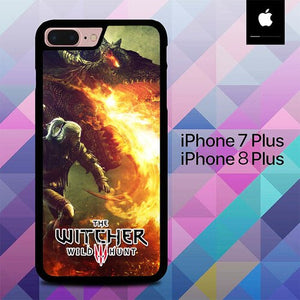 Custodia Cover iphone 7 plus 8 plus The Witcher Game Dragon Fire O7567 Case