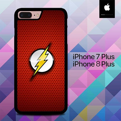 Custodia Cover iphone 7 plus 8 plus The Flash Logo O7570 Case