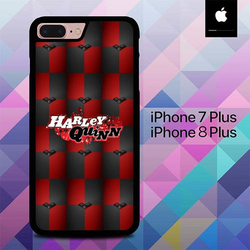 Custodia Cover iphone 7 plus 8 plus Harley Quinn Black Diamonds Logo O7587 Case