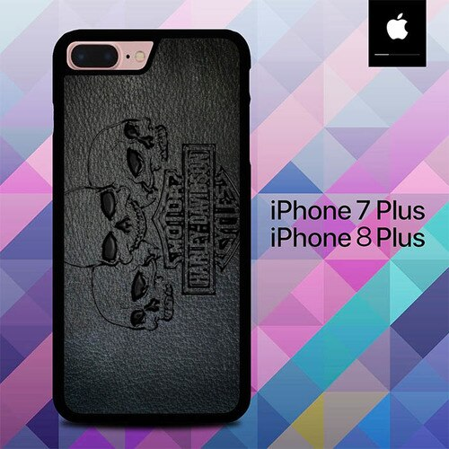 Custodia Cover iphone 7 plus 8 plus Harley Skull Wallpaper O7592 Case