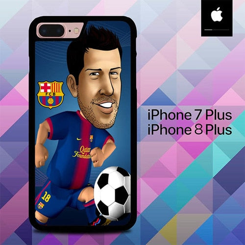 Custodia Cover iphone 7 plus 8 plus Jordi Alba O7626 Case