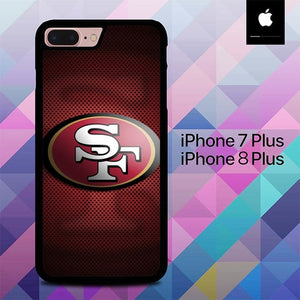 Custodia Cover iphone 7 plus 8 plus 49ers logo O7629 Case