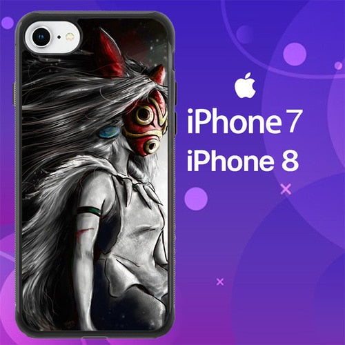 Custodia Cover iphone 7 8 princes mononoke Z0631 Case