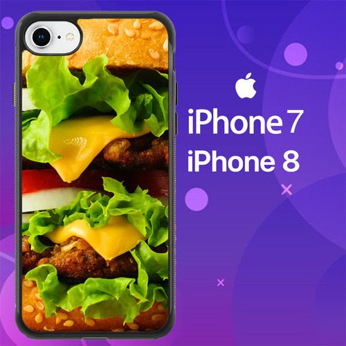 Custodia Cover iphone 7 8 Cheese Burger Z0715 Case