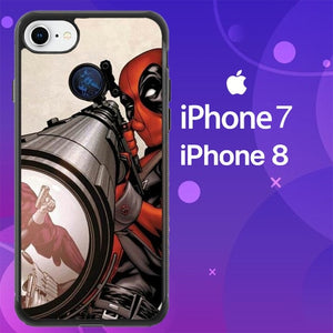 Custodia Cover iphone 7 8 Deadpool Snipes Z0161 Case