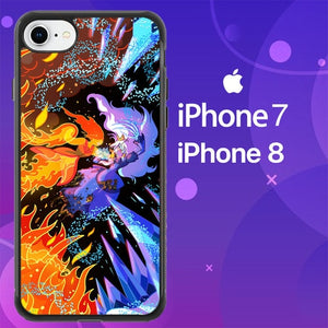 Custodia Cover iphone 7 8 adventure flame Z0256 Case