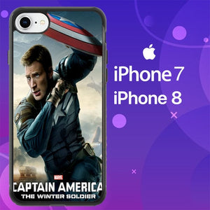 Custodia Cover iphone 7 8 America The Winter Soldier Z0399 Case