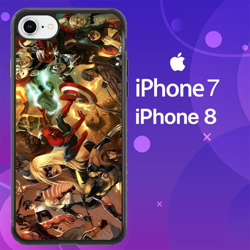 Custodia Cover iphone 7 8 The Heroic Age Avengers Z0796 Case