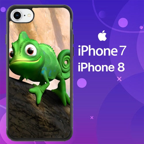 Custodia Cover iphone 7 8 Tangled Pascal 3D Cartoon Animated Z0810 Case