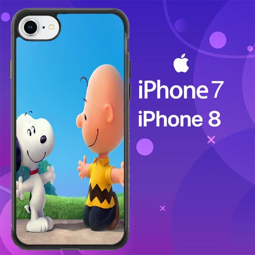 Custodia Cover iphone 7 8 peanuts movie Z0850 Case