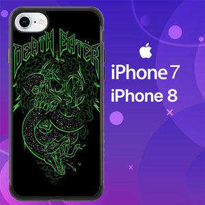 Custodia Cover iphone 7 8 Skulls Snakes Harry Potter Death Eaters Z0879 Case