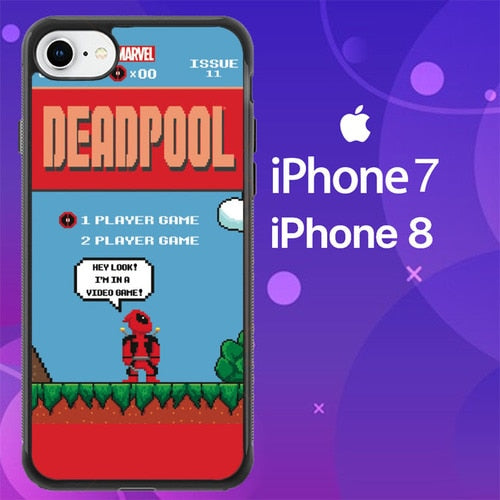 Custodia Cover iphone 7 8 DEADPOOL MARIO BROSS Z1218 Case