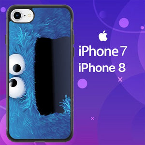 Custodia Cover iphone 7 8 sesame street cookie monster Z1624 Case