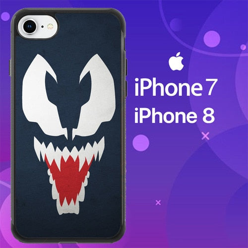 Custodia Cover iphone 7 8 Design Venom Minimalism Z1663 Case