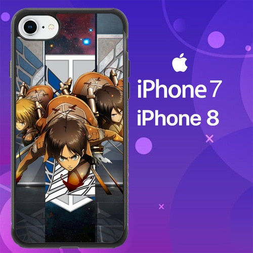 Custodia Cover iphone 7 8 attack on titan Z2211 Case