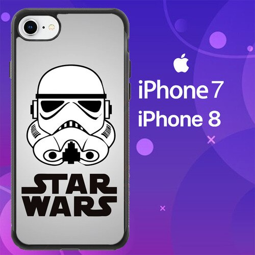 Custodia Cover iphone 7 8 Star Wars Stormtrooper vector Z2818 Case