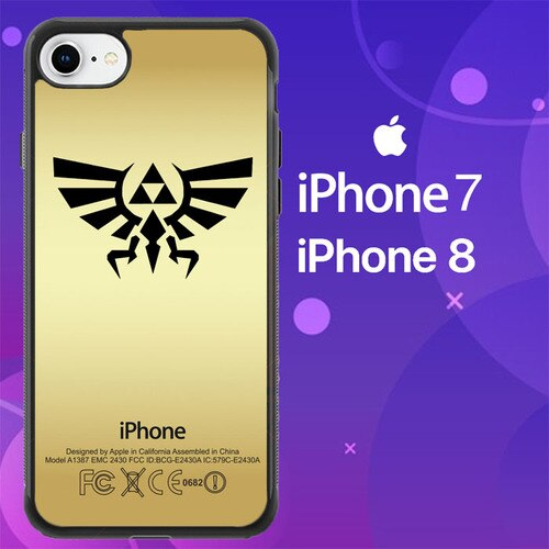 Custodia Cover iphone 7 8 Legend of Zelda triforce Z3608 Case