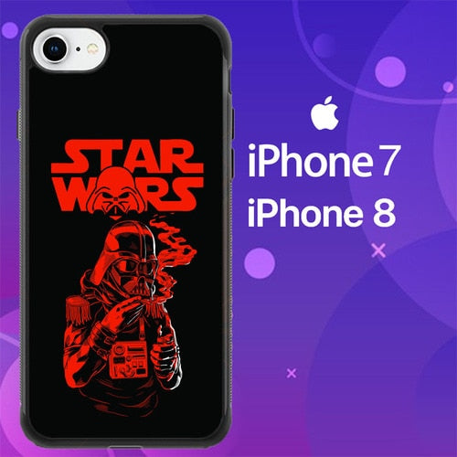 Custodia Cover iphone 7 8 Smoking Vader Star Wars Movies Z3651 Case