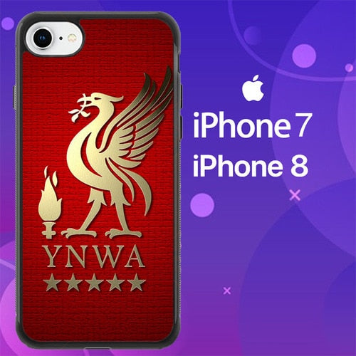 Custodia Cover iphone 7 8 Liverpool YNWA Logo Z3755 Case