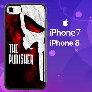 Custodia Cover iphone 7 8 Punisher logo Z4083 Case
