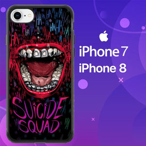 Custodia Cover iphone 7 8 Suicide Squad Joker Laugh Z4234 Case