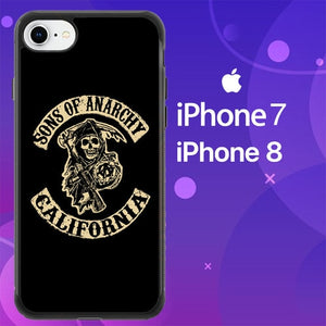 Custodia Cover iphone 7 8 Sons of Anarchy California Z4387 Case