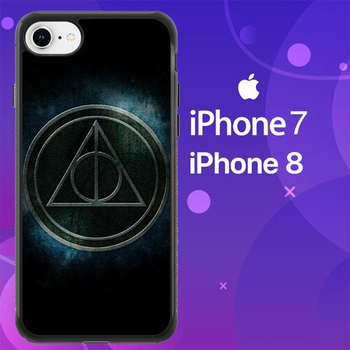 Custodia Cover iphone 7 8 Harry Potter Deathly Hallows Z4401 Case