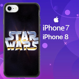 Custodia Cover iphone 7 8 star wars logo galaxy Z4497 Case