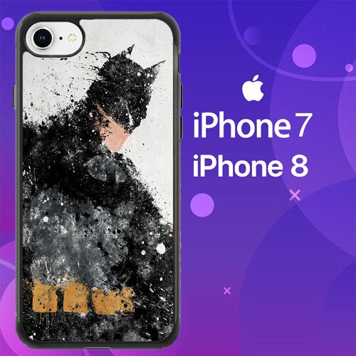 Custodia Cover iphone 7 8 Batman a hero painting Z4698 Case